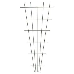 Xclou Gitterspalier V-Form in Braun  | Sichtschutz Garten Metall  |