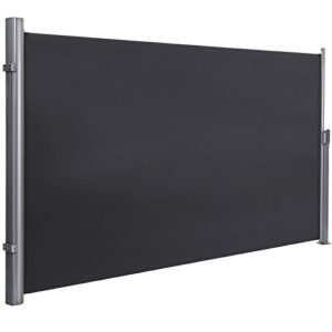 SONGMICS Seitenmarkise ca. 200 x 350 cm (H x L) für Balkon und Terrasse  | Sichtschutz Garten Metall  |