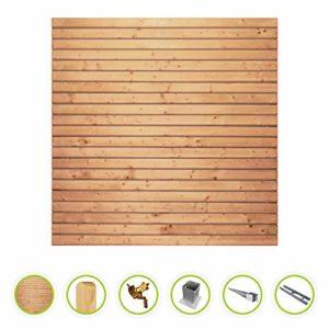 Rhombus Sichtschutzzaun  | Gartenzaun Komplettset - inkl. Pfosten und Pfostenträger   | Sichtschutz Garten Holz  |