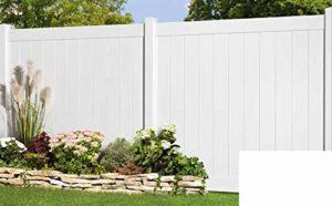 Longlife Sichtschutz Zaun Kunststoff weiß  | Sichtschutz Garten Kunststoff  | Sichtschutz Garten Modern