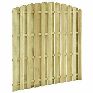 Tidyard Zaunpaneel-Sets Zaunfeld Zaunelement Lamellen-Konstruktion  | Sichtschutz Garten Holz  |