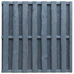 vidaXL Bohlenzaun-Paneel  Sichtschutzzaun Kiefernholz Grau  | Sichtschutz Garten Holz  | Sichtschutz Garten Holz Grau