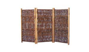 Mobiler Paravent für Garten  | Sichtschutz Garten Holz  |