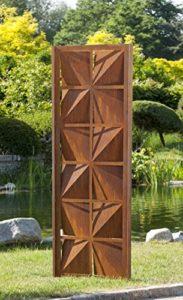 Gartenwand Sichtschutz Quadrat rost Stahl  | Sichtschutz Garten Metall  |