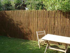 Nature LOUNGE Weidenmatte   | Sichtschutz Garten Holz  |