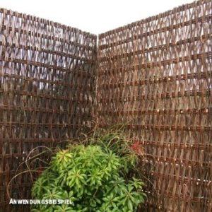Sichtschutzwand Weide Toulouse  | Sichtschutz Garten Holz  | Sichtschutz Garten aus Holz