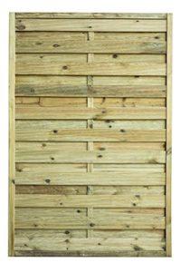 Avanti Trendstore - Lara - Gartensichtschutzwand, mit Rahmen 4,4x4,4cm und Lamellen geriffelt  | Sichtschutz Garten Holz  | Gartenzaun Sichtschutz Holz