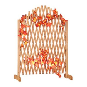 Relaxdays Rankgitter Holz, ausziehbar  | Sichtschutz Garten Holz  |
