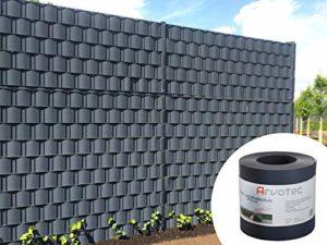Sichtschutz anthrazit, 25 Meter - zur Anbringung an Doppelstabmatten - Lärm-, Sicht- & Windschutz  | Sichtschutz Garten Kunststoff  | Sichtschutz Garten Ideen