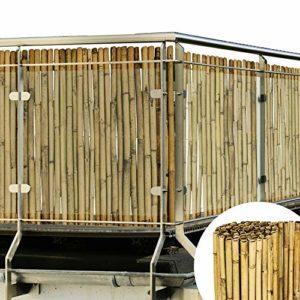 Sol Royal Sichtschutz Bambus Zaun  | Bambusstangen als Sichtschutzmatte Natur mit dickem Bambusrohr  | Sichtschutz Garten Holz  |