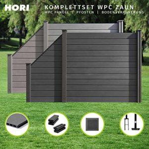 HORI WPC-Zaun  | Sichtschutz-Zaun  | Steckzaun  | Gartenzaun  | Komplettset   | Sichtschutz Garten Kunststoff  | Sichtschutz Garten Ideen