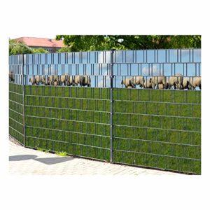 PerfectHD Zaunsichtschutz  | 30 Motive  | Sichtschutzstreifen für Doppelstabmattenzaun  | Sichtschutz Garten Metall  |