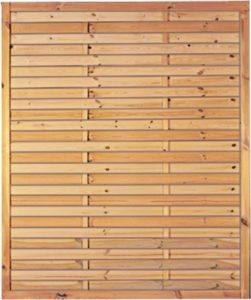 Lamellenzaun Rom   | Sichtschutz Garten Holz  |