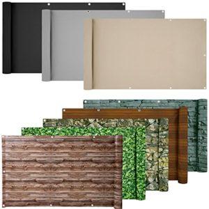 ESTEXO PVC-Balkonsichtschutz, Balkonbespannung, Balkonverkleidung | Sichtschutz Garten Kunststoff | Sichtschutz Garten Modern