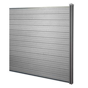 Mendler WPC-Sichtschutz Sarthe, Windschutz Zaun  | Sichtschutz Garten Kunststoff  | Sichtschutz Garten Modern