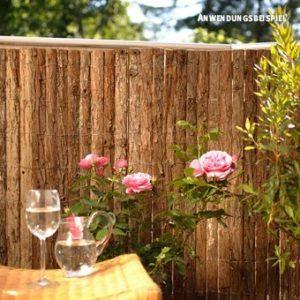 Sichtschutzmatte Rinde Bretagne  | Sichtschutz Garten Holz  |