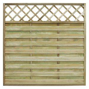 Anself Sichtschutzzaun Holzzaun Gartenzaun aus Holz mit Spalier  | Sichtschutz Garten Holz  |