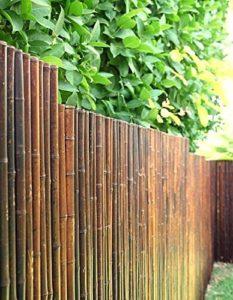 DE-COmmerce Robuster Bambus Holz Sicht Schutz Zaun | Sichtschutz Garten Holz | Sichtschutz Garten Bambus