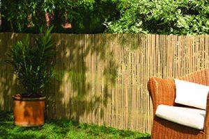 Robuster Sichtschutz Zaun Bambus CALAMA  | Sichtschutz Garten Holz  |