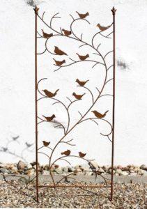 DanDiBo Rankhilfe mit Vögel 120705 Rankgitter aus Metall  | Sichtschutz Garten Metall  |