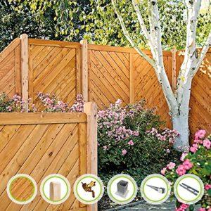 Esbjerg-Serie Sichtschutzzaun  | Gartenzaun  | Komplettset  | Sichtschutz Garten Holz  |