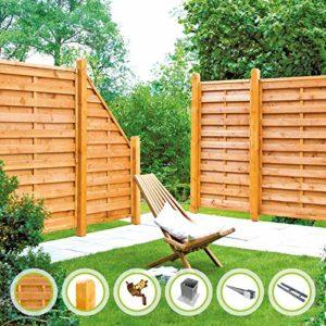 Gartenzaun Sunline-Serie   |  Lamellenzaun, Sichtschutzzaun aus Fichte   | Sichtschutz Garten Holz  |