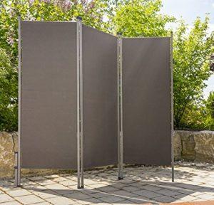 CV Outdoor Paravent anthrazit   | Sichtschutz Garten Metall  |