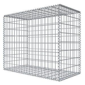 Niederberg Metall Gabione 80x100x50 Steingabione  | Sichtschutz Garten Metall  |